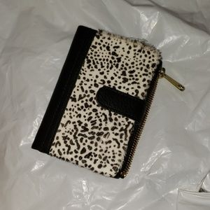 Fossil Wallet leopard and black nwt